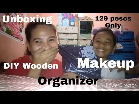 DIY WOODEN MAKEUP ORGANIZER 129 PESOS ONLY