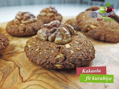 Kakaolu Fit Kurabiye Tarifi - Şekersiz   Diyet Ortağım