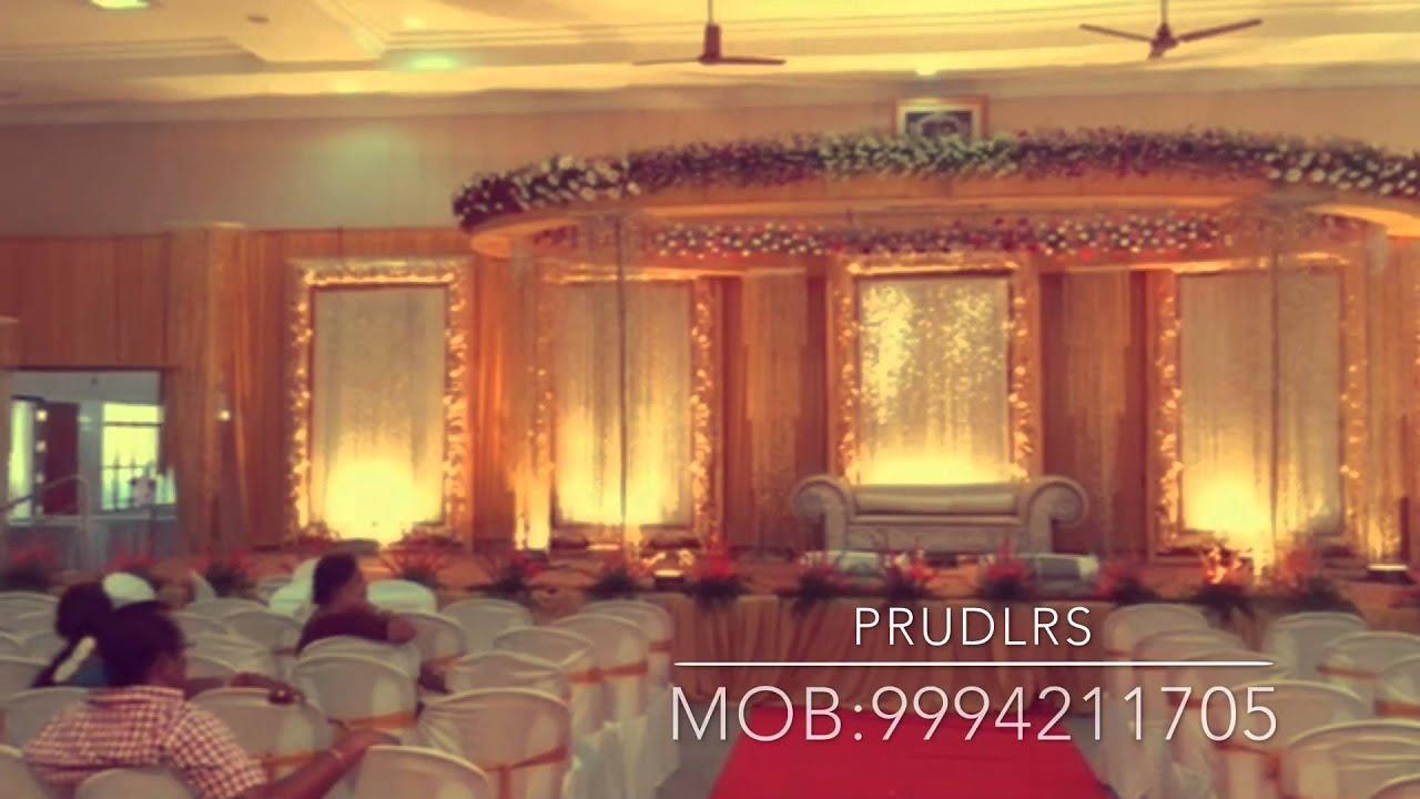 Stage decoration ramakrishna mandapam by prudlrs youtube for Arathi thattu decoration
