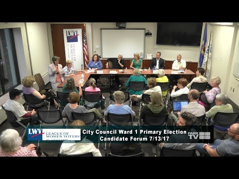 City Council Ward 1 Primary Election Candidate Forum 7/13/17