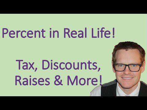 Shortcut for Percent Word Problems: tax, discounts, sales! (Simplifying Math)