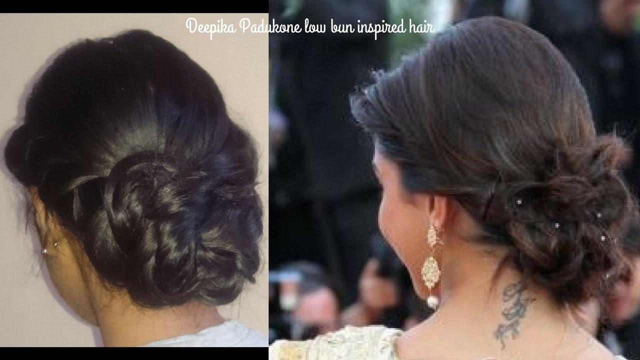 Hairstyle inspired by Deepika Padukone | Twist Braid | Low ...