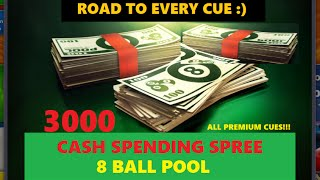 3000 CASH SPENDING SPREE! NEAR FULL CUE COLLECTION 8 BALL POOL