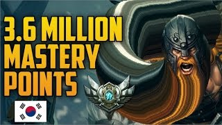 Silver OLAF 3,600,000 MASTERY POINTS- Spectate Highest Mastery Points on Olaf