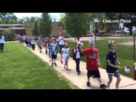 Memorial Day parade at Oak Ridge Elementary in Royal Oak
