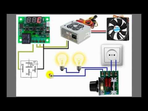 схема подключения самодельного инкубатора
