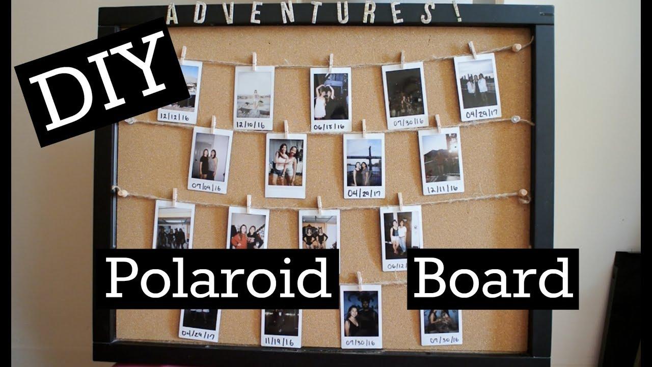 easy diy polaroid board