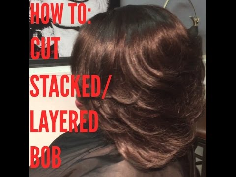 HOW TO CUT STACKED BOB EASIEST WAY EVER YouTube