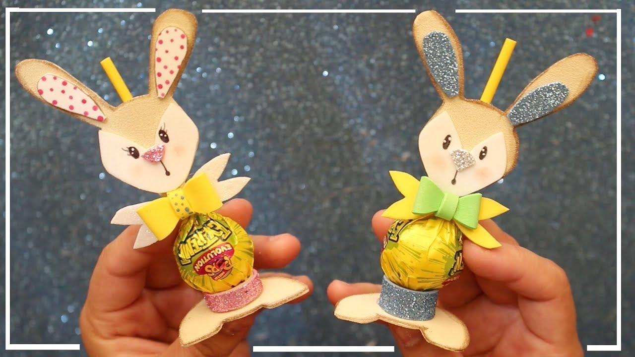 Como decorar chupetines en forma de conejo con goma eva - Formas goma eva ...