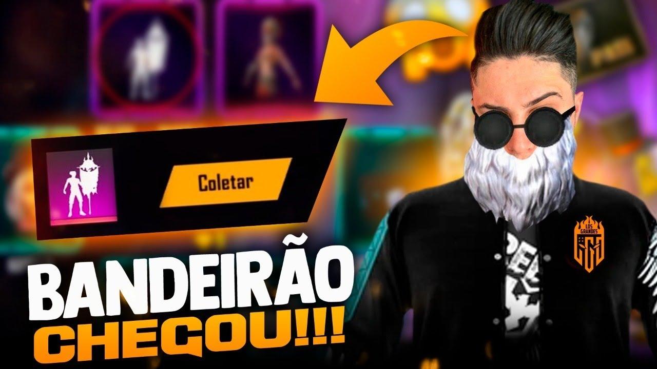 🚩FINALMENTE CHEGOU BANDEIRÃO E SKIN APELAPATO !! LOUD MEGA!! SOLO RANKED!🔴FREEFIRE AO VIVO - LIVE