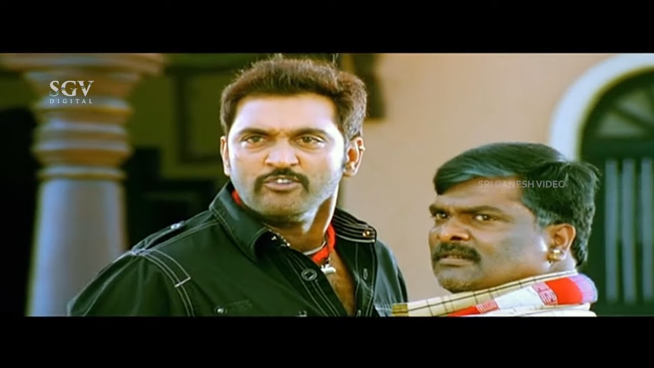 Darshan Warns Bhoomi's Cousin | Challenging Star Best Scene from Brundhavana | Karthika Nair