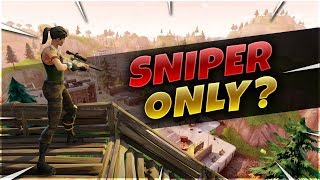 I SNIPED AT EVERY SINGLE ELIMINATION FOR THE VICTORY ROYALE WITH A HEAVY SNIPER PS4 DAKOTAZ?