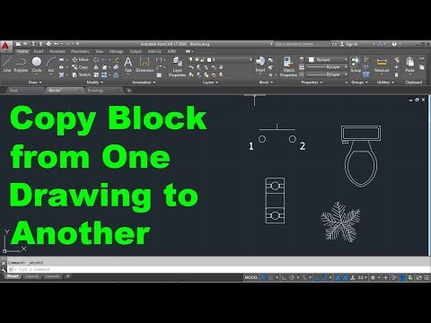 AutoCAD Copy Block Between Drawings   AutoCAD Copy Block from One
