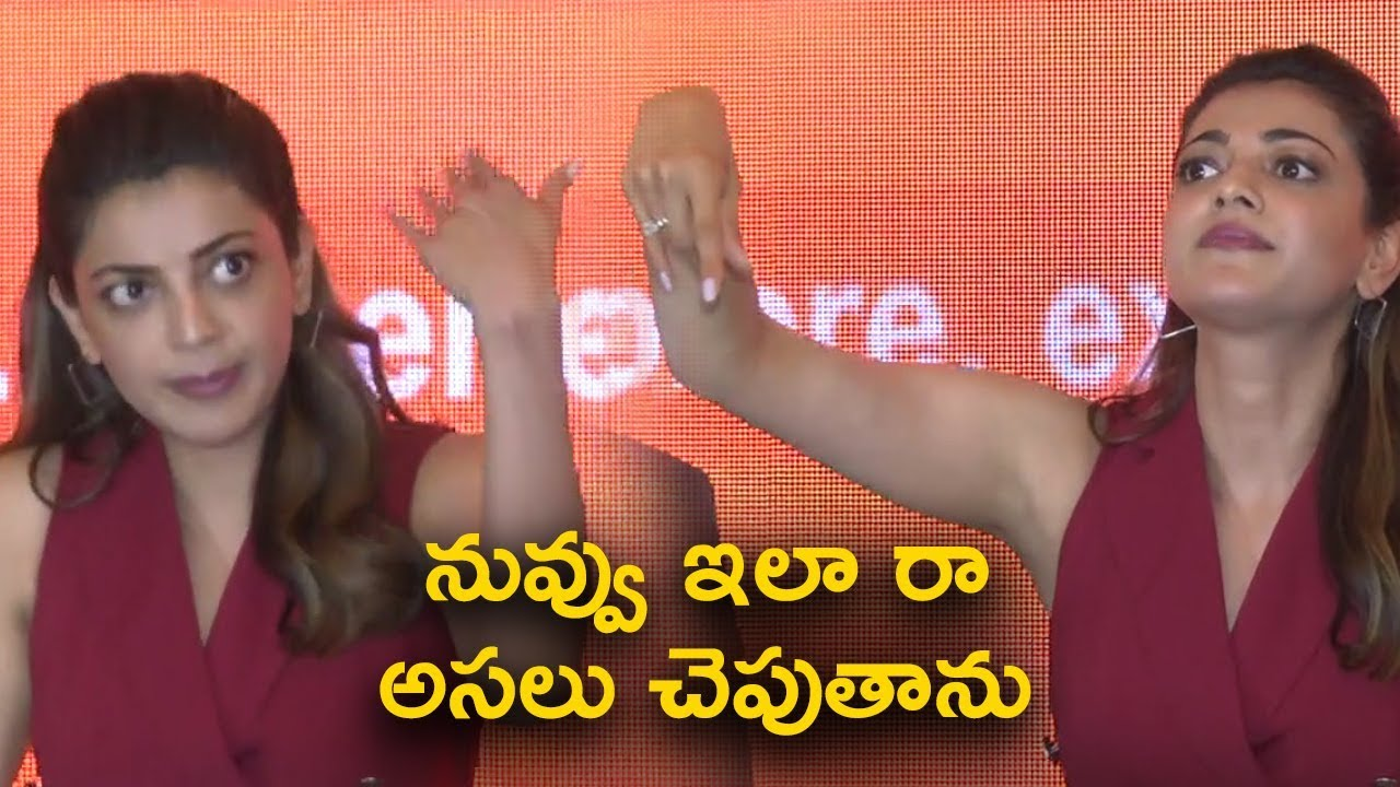 Download Kajal Making Fun of Media Silly Questions @Happi Mobiles Press Meet 02