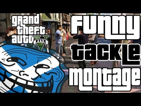GTA 5 Funny Tackle Montage! (Grand Theft Auto V) (Hilarious)