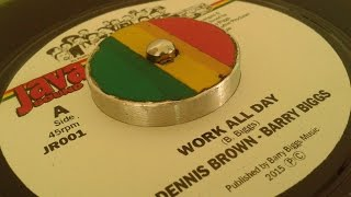 Dennis Brown -Barry Biggs - Work All Day & Work All Day Version - Mikey Mao Chung