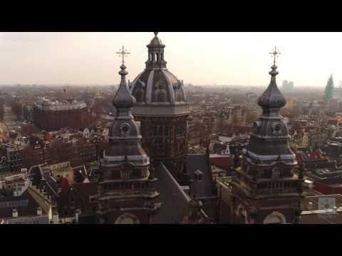 Amsterdam Travel Destination by Skyecam