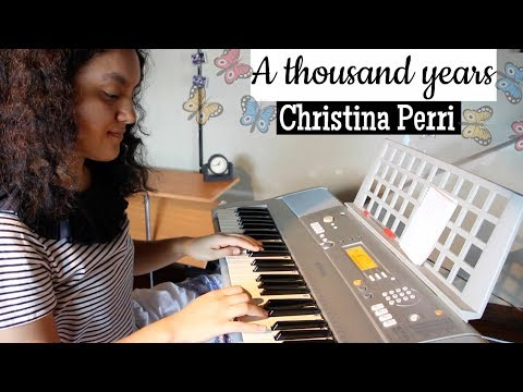 A Thousand Years By Christina Perri Piano Cover by a Beginner + BLOOPERS