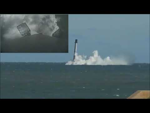 SpaceX CRS 16 Falcon 9 Rocket Water Crash Landing Using SpaceX ground camera