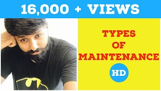 Types of Maintenance in Industrial Engineering : IE Lectures