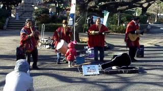Peruvian Flute Band in Ueno Park, Japan