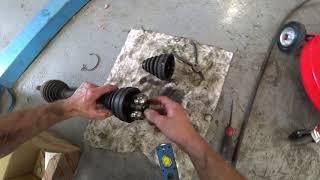 Camry 40. Замена правого внутреннего пыльника привода колеса.