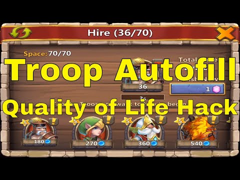 Castle Clash Quality Of Life Hack Army Camp Autofill