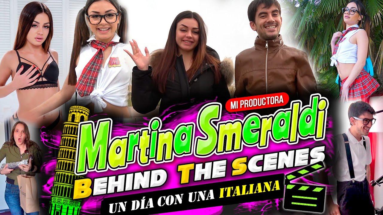 ¡Una colegiala italiana en mi set de rodaje! Martina DETRÁS DE LAS CÁMARAS