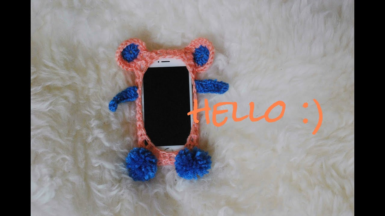 Crochet casing for phone