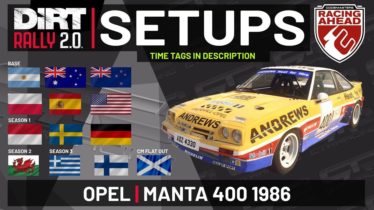 Opel Manta 400 | SETUPS | DiRT Rally 2.0