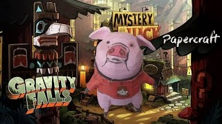 Souvenirs de Gravity Falls Papercraft: Dandinou! Waddles! The Mabble's Pig!