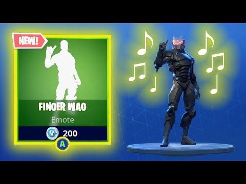 NEW FINGER WAG EMOTE DANCE ** WITH SOUND ** Fortnite Battle Royale