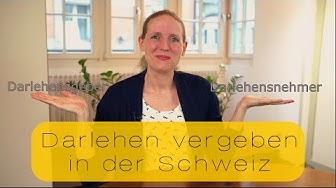 Darlehen vergeben in der Schweiz