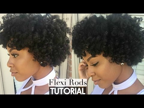 Natural Hair | Flexi Rod Set on Stretched Hair Tutorial | Heatless, Frizz-Free Curls!