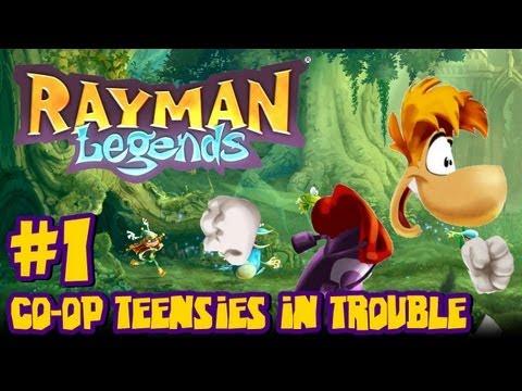 Rayman Legends Wii U - (2048p) Co Op - Part 1 Teensies in Trouble & Giveaway