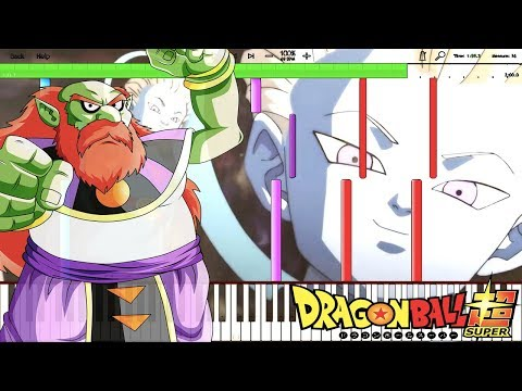 Earth's Fate - Dragon Ball Super OST / Universe 9 Gets Erased (Piano Tutorial) [Synthesia]