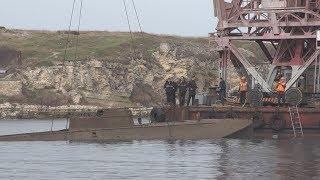 Со дна Карантинной бухты подняли катер времён Великой Отечественной войны