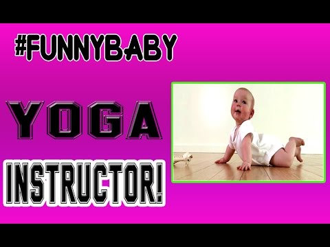 Funny Baby Yoga Instructor