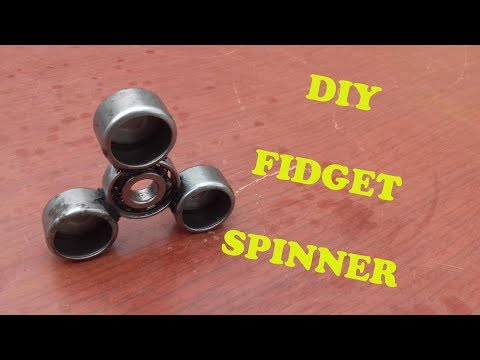 HOW TO MAKE A FIDGET SPINNER TOY DIY