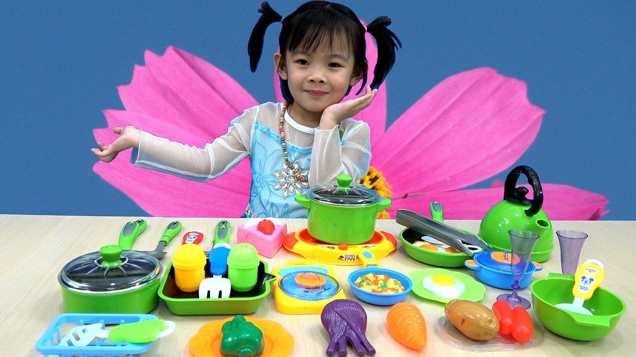 Cooking Kitchen Playset For Kids – Đồ Chơi Nấu Ăn Cho Bé – Bé Tập Nấu Ăn ❤ AnAn ToysReview TV ❤