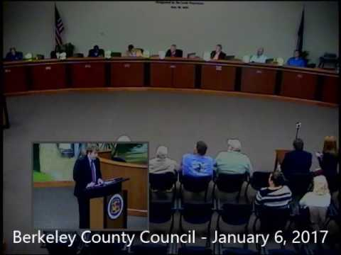 Berkeley County Council Special Meeting - January 6, 2017
