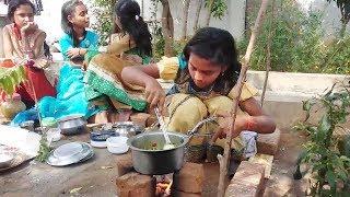 Village Kids cooking of food in my village