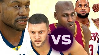 can the two worst nba players defeat lebron james and michael jordan nba 2k17 challenge