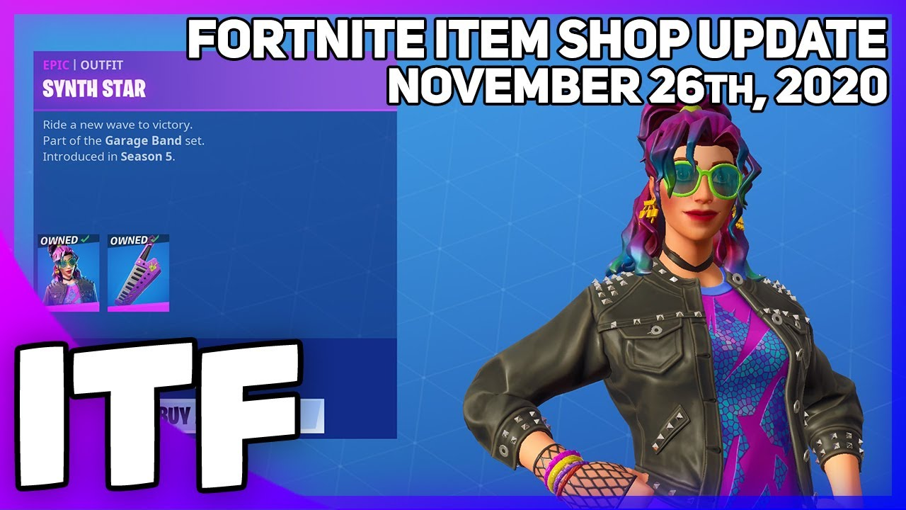 Fortnite Item Shop *RARE* SYNTH STAR IS BACK! [November 26th, 2020] (Fortnite Battle Royale)
