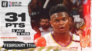 Zion_Williamson_31_Points_Full_Highlights_|_Blazers_vs_Pelicans_|_February_11,_2020