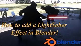 How to add a LightSaber Effect in Blender!