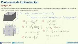 Problemas de optimización - Ejemplo #2