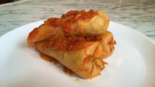 Постные Голубцы с Рисом(Очень Вкусно)/Cabbage Rolls/Пошаговый Рецепт.Великий Пост