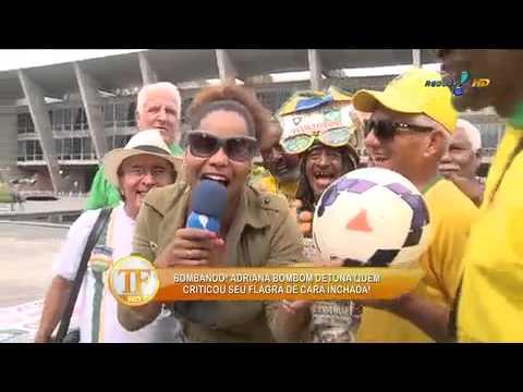 TV Fama 08/08/2014 - Adriana Bombom Solta O Verbo Sobre 'cara Inchada'