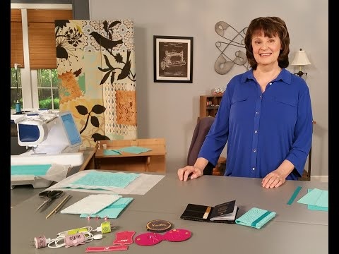Reen Wilcoxson Stitches An In The Hoop Passport Case As Seen On It's Sew Easy Episode 1704